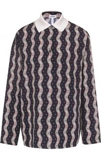 Блуза прямого кроя с принтом Loewe