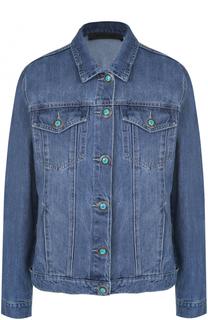 Джинсовая куртка с отделкой из меха норки на спинке Simonetta Ravizza
