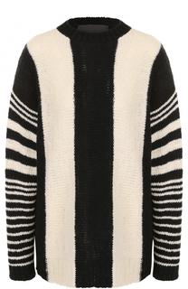Удлиненный кашемировый пуловер с круглым вырезом The Elder Statesman