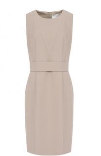 Приталенное платье-миди с поясом BOSS