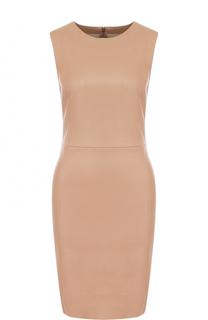 Кожаное платье-футляр без рукавов DROMe