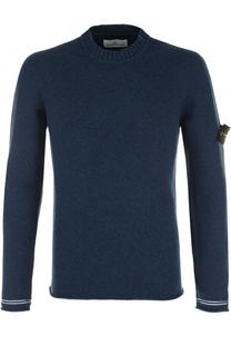 Шерстяной свитер с круглым вырезом Stone Island
