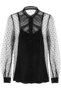 Полупрозрачная блуза с декоративной отделкой REDVALENTINO