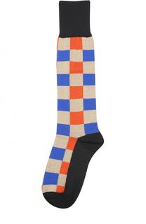 Хлопковые носки с принтом Marni