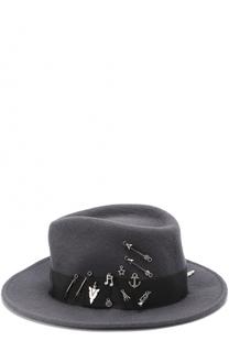 Фетровая шляпа с брошками House Of Lafayette