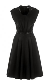 Приталенное платье-миди с декоративной отделкой Giorgio Armani