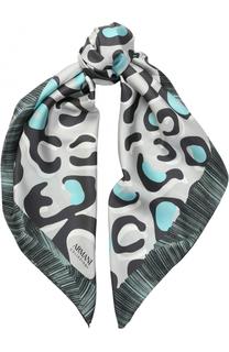 Шелковый платок с принтом Armani Collezioni