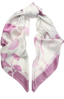 Шелковый шарф с цветочным рисунком Armani Collezioni