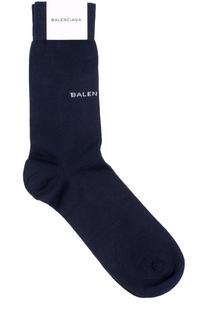 Хлопковые носки с логотипом бренда Balenciaga