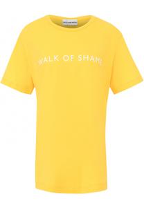 Футболка прямого кроя с логотипом бренда Walk of Shame