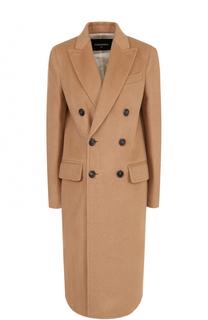 Двубортное шерстяное пальто Dsquared2