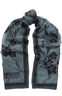 Шарф с цветочным рисунком Armani Collezioni