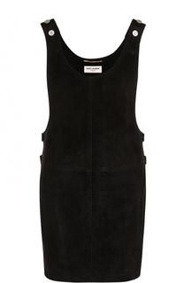 Мини-платье из замши Saint Laurent