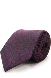Шелковый галстук с узором HUGO