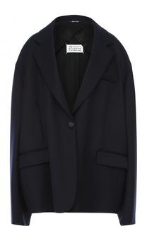 Однобортное пальто прямого кроя Maison Margiela