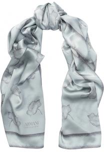 Шелковый шарф с принтом Armani Collezioni