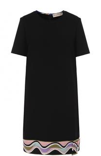 Платье прямого кроя с контрастной отделкой Emilio Pucci