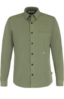 Хлопковая рубашка с нагрудным карманом Stone Island