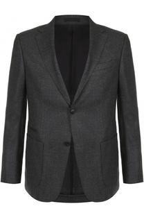 Однобортный пиджак из смеси шерсти и кашемира Z Zegna
