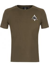 Хлопковая футболка с контрастной отделкой Marcelo Burlon