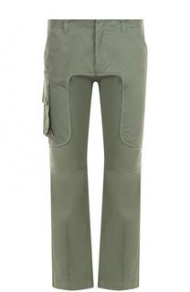 Хлопковые брюки прямого кроя Marcelo Burlon