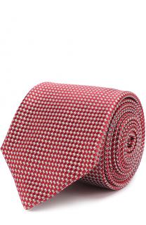 Шелковый галстук с узором Canali