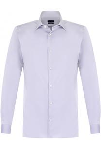 Хлопковая сорочка с воротником кент Z Zegna