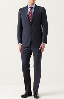 Шерстяной костюм в клетку с пиджаком на двух пуговицах Windsor