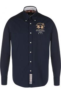 Хлопковая рубашка с вышивкой La Martina