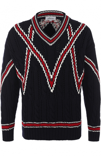Шерстяной вязаный свитер Brioni