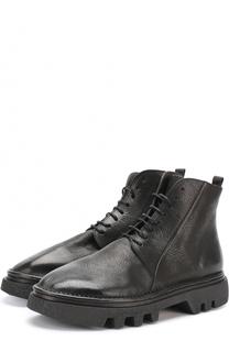 Высокие кожаные ботинки на шнуровке Marsell