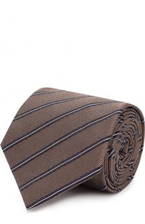 Галстук из смеси шелка и хлопка Giorgio Armani