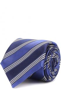 Шелковый галстук в полоску Canali