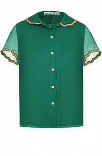 Шерстяная блуза прямого кроя с декоративной отделкой Jupe by Jackie