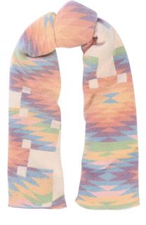 Кашемировый шарф с геометричным принтом The Elder Statesman