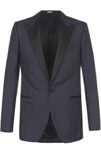 Вечерний шелковый пиджак с остроконечными лацканами Lanvin