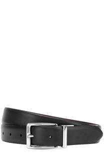 Кожаный ремень с металлической пряжкой Polo Ralph Lauren