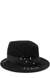 Фетровая шляпа с декором из страз и подвесок House Of Lafayette
