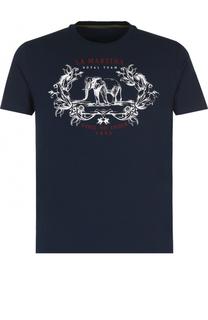 Хлопковая футболка с принтом La Martina