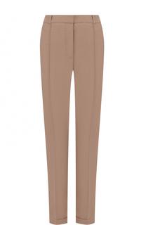 Укороченные брюки прямого кроя со стрелками BOSS