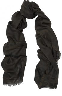 Шарф из смеси шерсти и шелка Philipp Plein