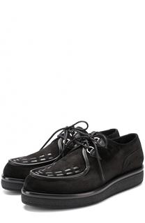 Замшевые ботинки на толстой подошве Valentino
