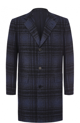 Однобортное пальто из смеси шерсти и кашемира с шелком Kiton