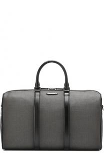 Текстильная дорожная сумка с плечевым ремнем Ermenegildo Zegna