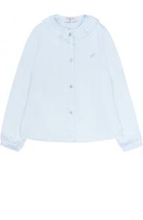 Блуза с декоративным воротником Monnalisa