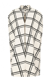 Накидка из смеси шерсти и шелка в контрастную полоску Valentino