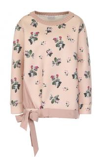 Пуловер с принтом и бантом Moncler