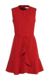 Приталенное платье-миди с оборками REDVALENTINO