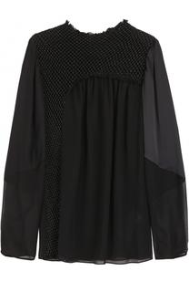 Шелковая блуза с декоративной отделкой 3.1 Phillip Lim