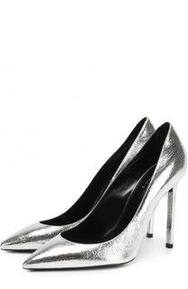 Туфли Anja из металлизированной кожи на шпильке Saint Laurent